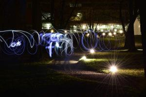 Fotoworkshop in der Abendschule Jena, Lightpainting